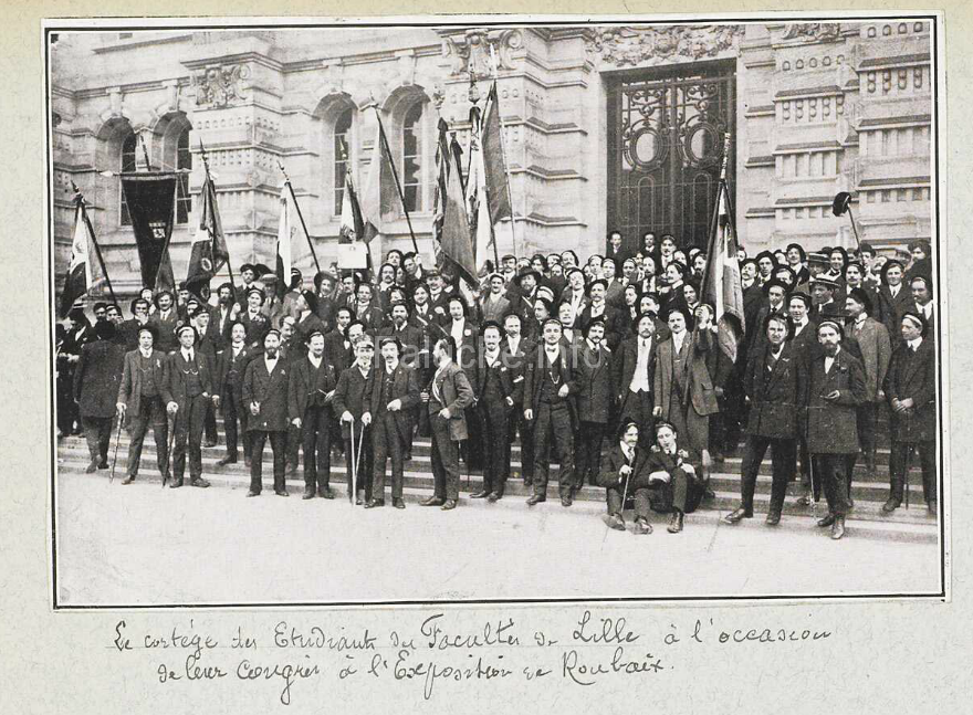 UNEF union nationale des Étudiants de France 1911 Roubaix