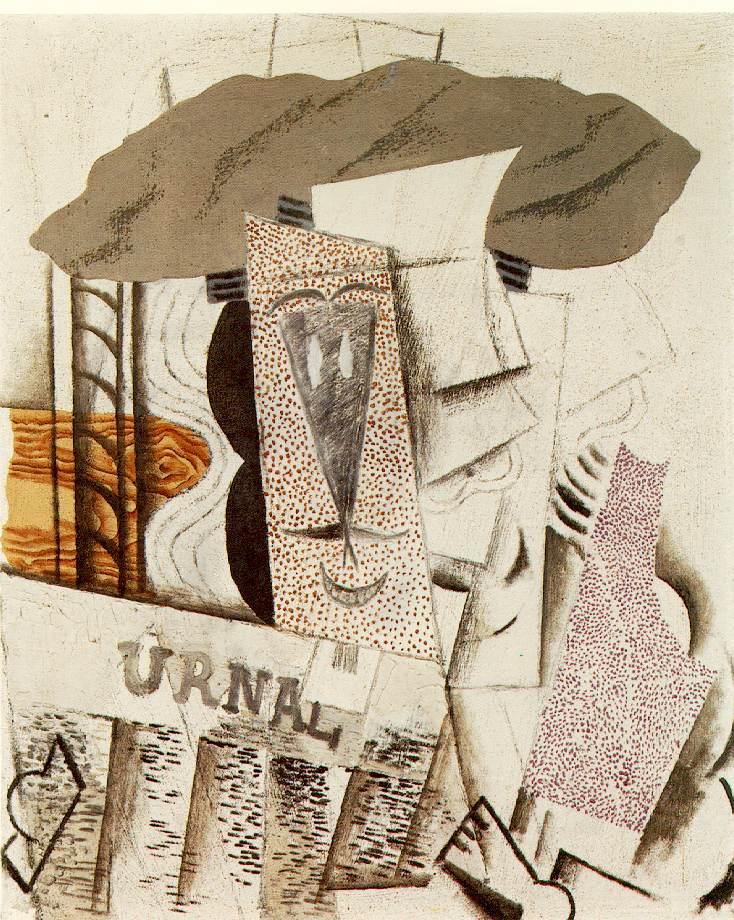 Pablo Picasso - faliuche Etudiant au journal
